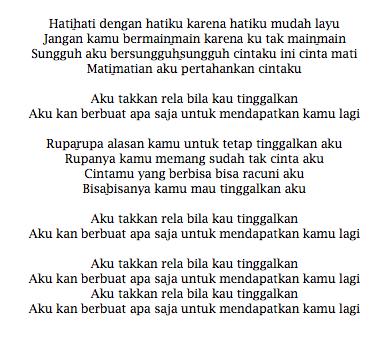 Lirik Lagu TRIAD Cinta Gila
