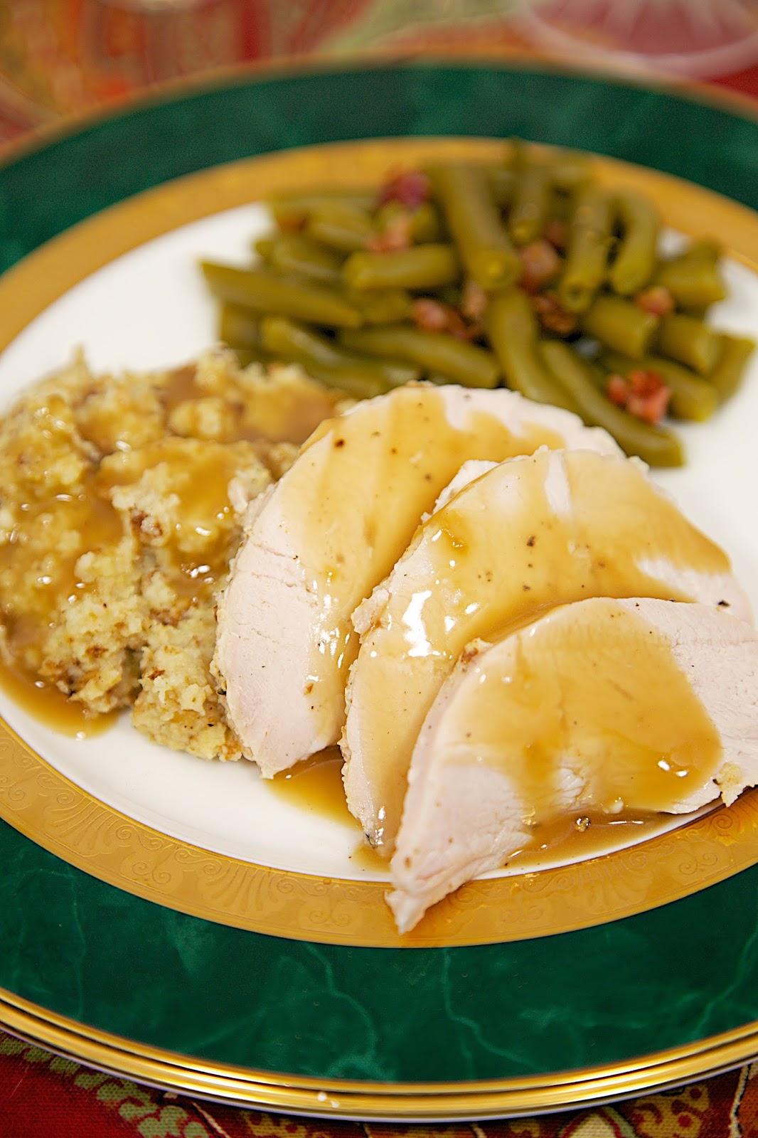 Slow Cooker Turkey Amp Cornbread Dressing Plain Chicken