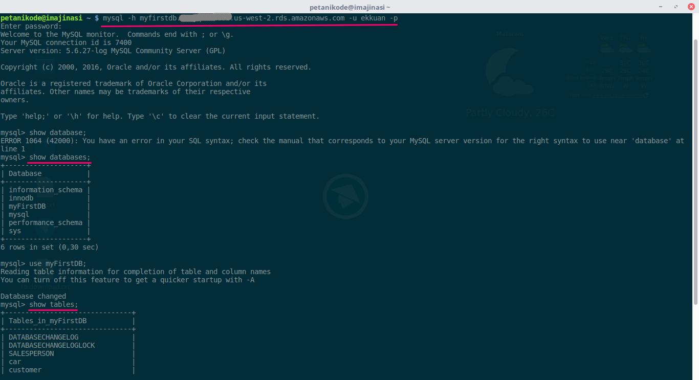 Testing server hasil curian