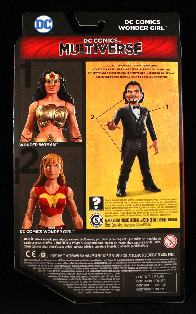 Wonder Woman /& Wonder Girl Action Figures Dr Psycho Series new DC Multiverse
