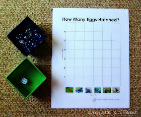 Bird themed graphing activity for kids (Free Printable)