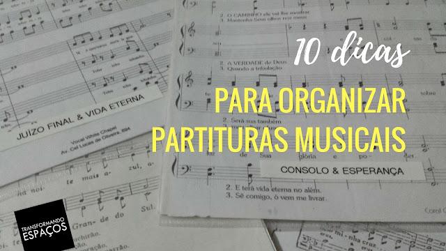 10 dicas para organizar partituras musicais