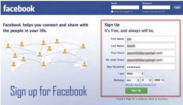 Facebook Easy Sign Up