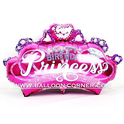 Balon Foil Mahkota HAPPY BIRTHDAY PRINCESS