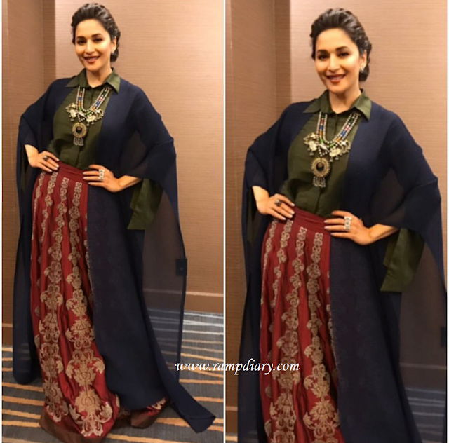 Madhuri Dixit In Payal Khandwala For an event in the USA