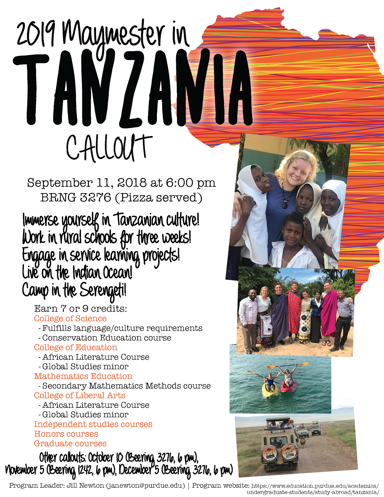 Tanzania Study Abroad Maymester 2019 | Purdue IE Undergrad News and