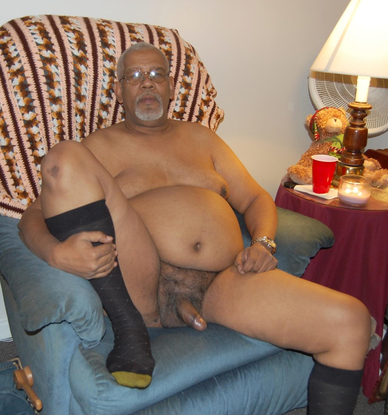 Old nude black men