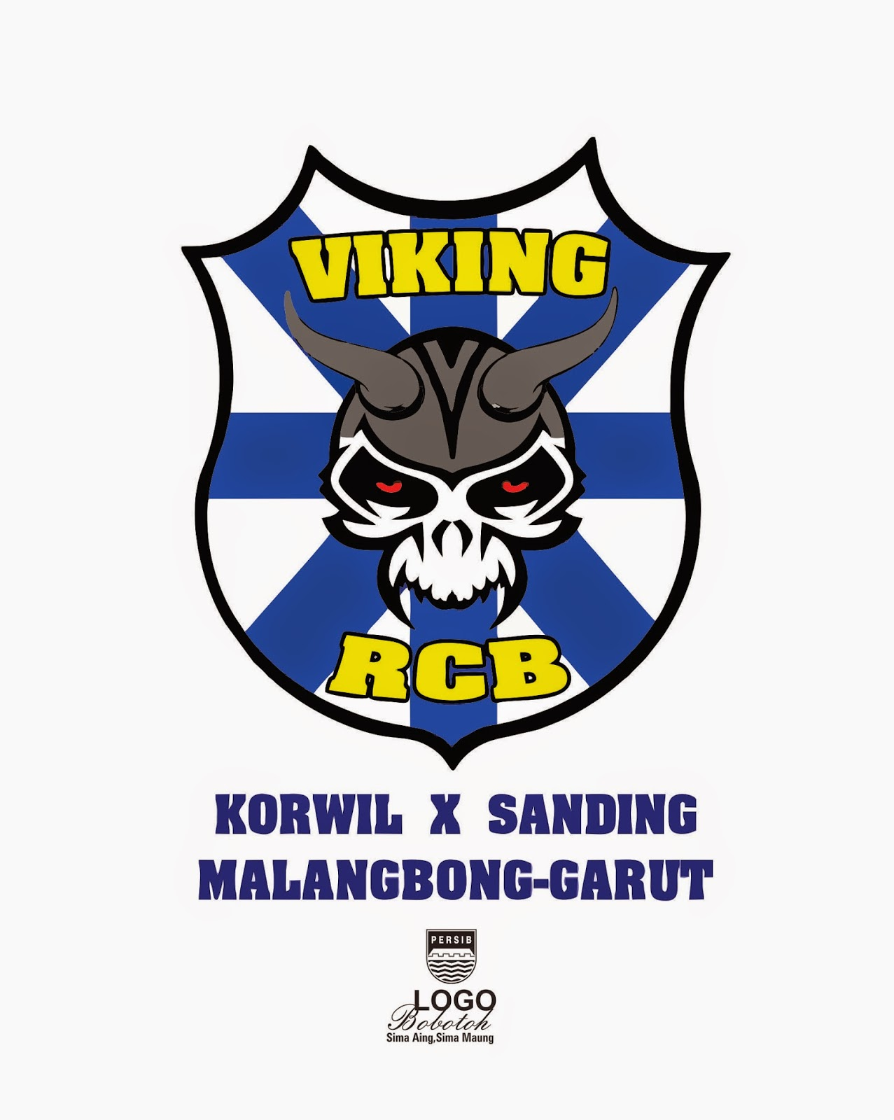 Download Gambar Sketsa Persib Bandung Polos