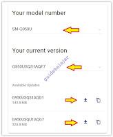 download OTA firmware Samsung S8, S9