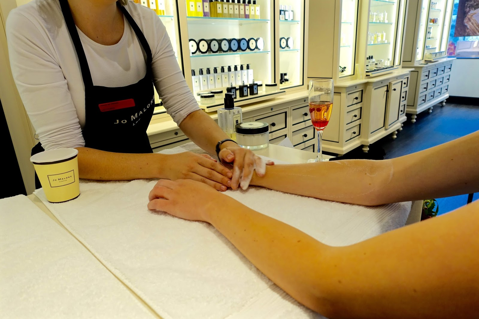 Hand and arm massages at Jo Malone