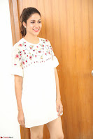 Lavanya Tripathi in Summer Style Spicy Short White Dress at her Interview  Exclusive 302.JPG