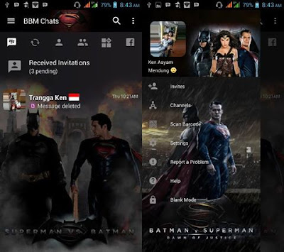 BBM Mod v3.2.5.12 Dawn of Justice APK [BBM Superman]