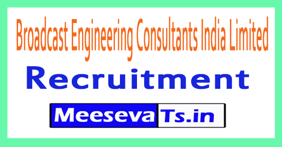 Broadcast Engineering Consultants India Limited BECIL Recruitment