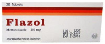 دواعى إستعمال فلازول Flazol مضاد حيوى