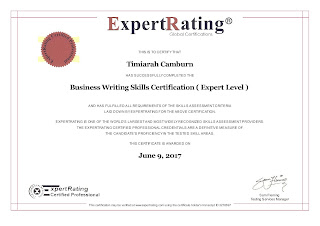 Timiarah Camburn's Business Writing Certification