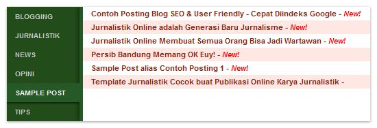 Daftar Isi (Sitemap) Blog Fast Loading & SEO Friendly
