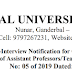 Walk-In-Interview for Assistant Professors/Teaching Assistants AT CENTRAL UNIVERSITY OF KASHMIR - Interview date 11-03-2019