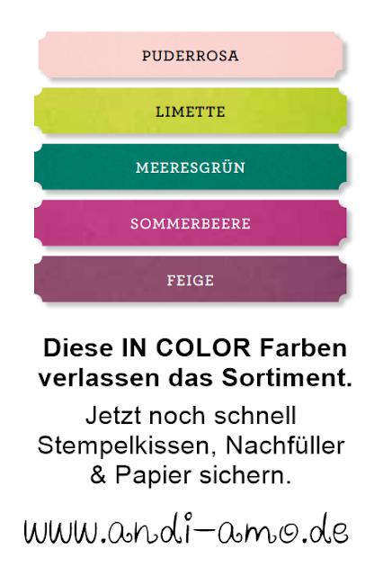 In Color Farben 2017-2019 verlassen uns
