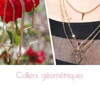 colliers géométriques Happiness boutique