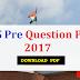 UPPCS Pre Question Paper 2017 -Download PDF