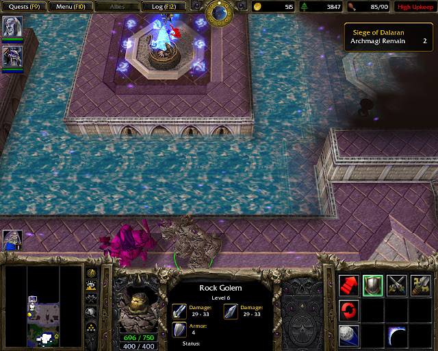 Rock Golem Screenshot | Warcraft 3: Reign of Chaos
