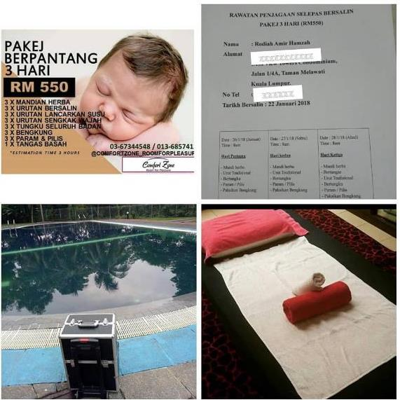 Review Pakej Urutan Bersalin dari Comfort Zone Spa
