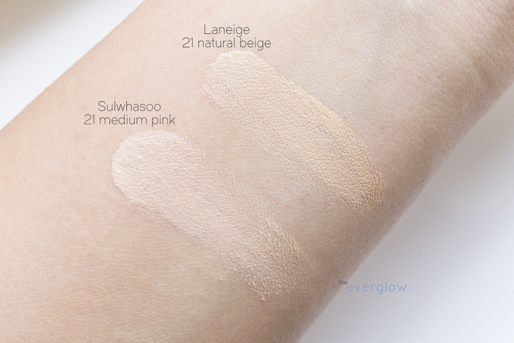 Review Laneige Bb Cushion Pore Control In 21 Natural Beige On The