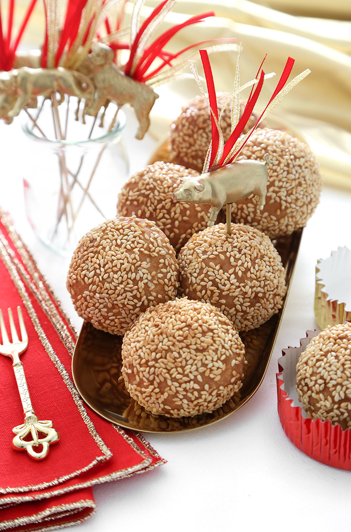 Fried Sesame Balls for Chinese New Year | Sprinkle Bakes