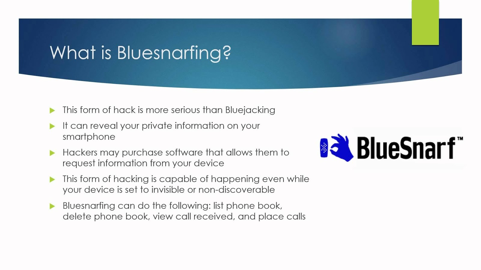 hacking bluetooth enabled mobile phones and Take two minutes to review all the apps on your smartphone, and see which   check it's enabled on the phone in settings  icloud  find my iphone  can  warn you immediately if they lose bluetooth contact with your phone.