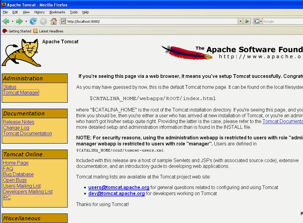 apache tomcat 6.0.14