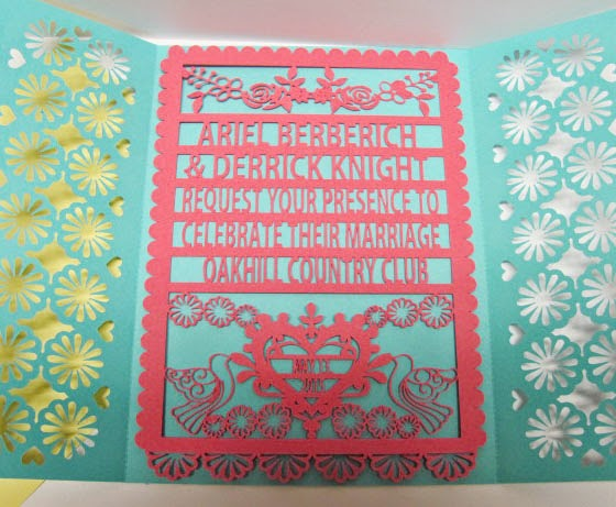 Paper Pulse Blog Spot Papel Picado Wedding Invitation