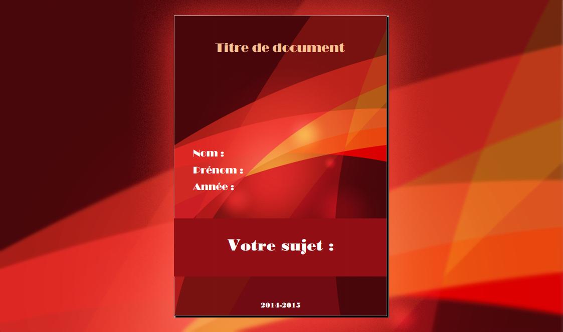 Télécharger Page De Garde Rapport De Stage Word