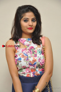 Kannada Actress Mahi Rajput Pos in Floral Printed Blouse at Premam Short Film Preview Press Meet  0001.jpg