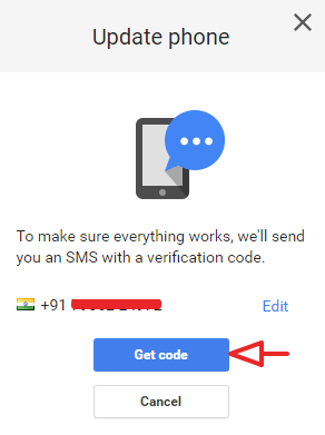 how to change mobile number in gmail android