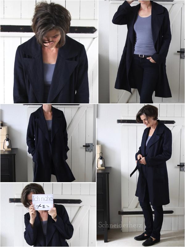 Mantel aus Leinen selber nähen- DIY Fashion