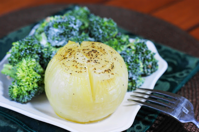 Baked Onions are such a lovely simple side ~ so tasty & easy to make.   www.thekitchenismyplayground.com