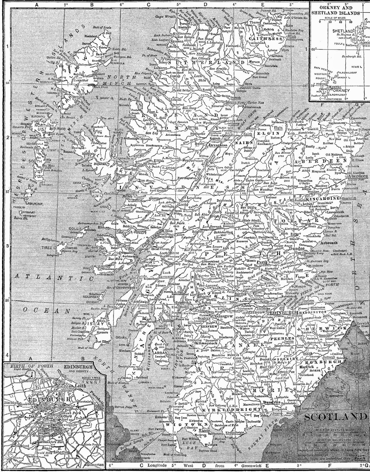 Antique Images: Free Digital Image Transfer of Vintage Map ...