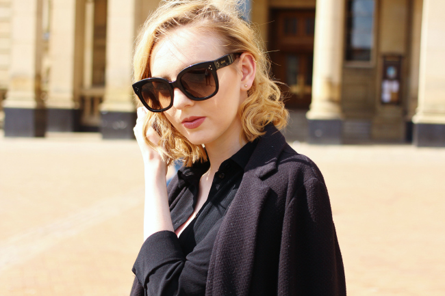 UK, fashion, blogger, outfit, ootd, Celine, New audrey, sunglasses, designer