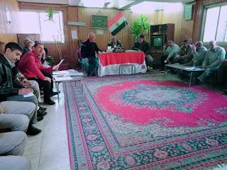 جدول اعمال الاجتماع الاسبوعي بالادارة الزراعيه بابشواي.