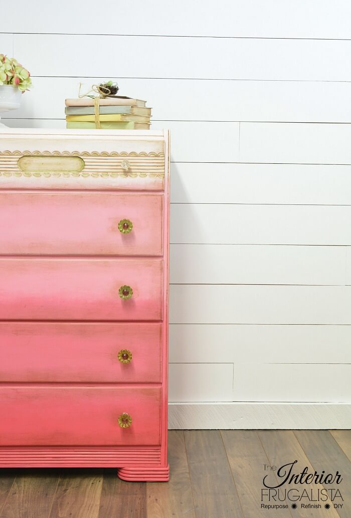 Pink Ombre Waterfall Dresser Right