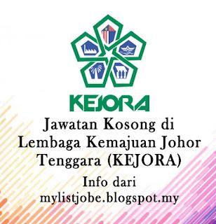 Jawatan Kosong Terkini di Lembaga Kemajuan Johor Tenggara (KEJORA)