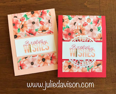 Stampin' Up! More Than Words: Birthday Wishes Card ~ Sale-a-Bration Coordination ~ www.juliedavison.com