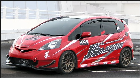 Honda Jazz modif stiker