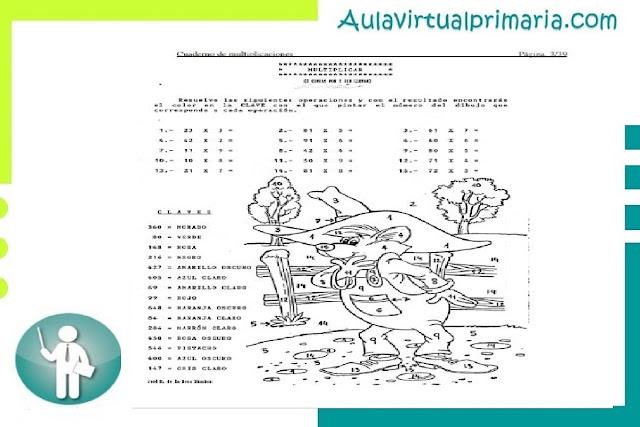 recurso, educativo, actividades, material, primaria