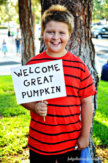 linus great pumpkin costume
