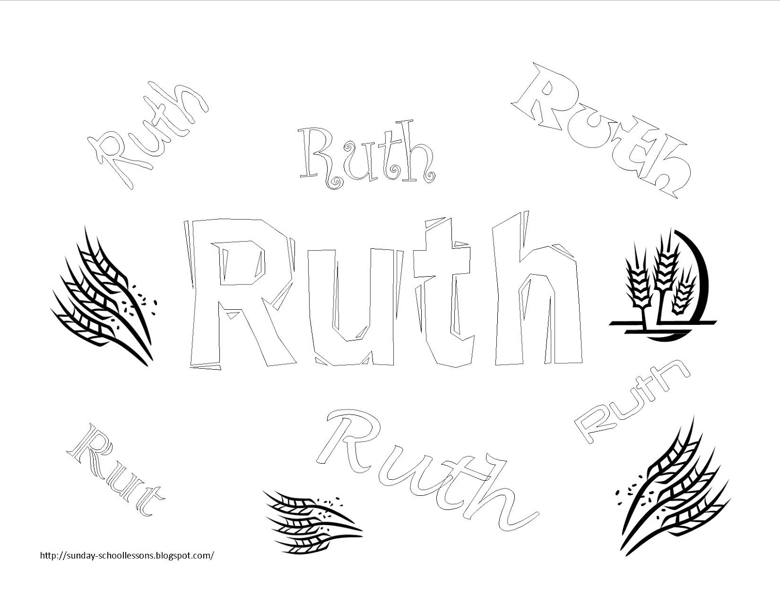 This is a picture of Handy Ruth Coloring Page