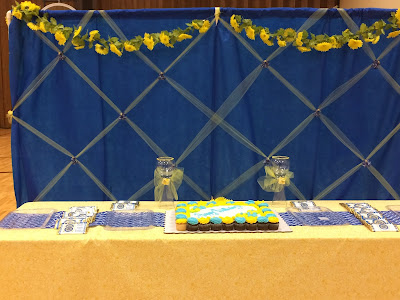 Relief Society birthday dessert table