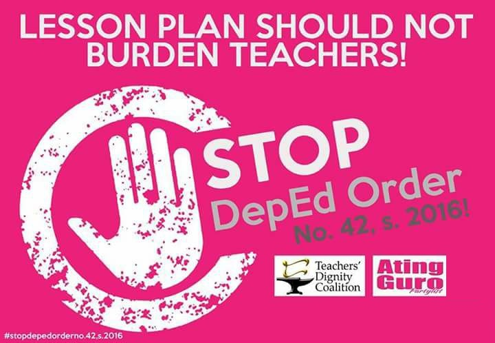 PREVENT DEPRESSION AND SUICIDE, LIBERATE TEACHERS FROM CLERICAL