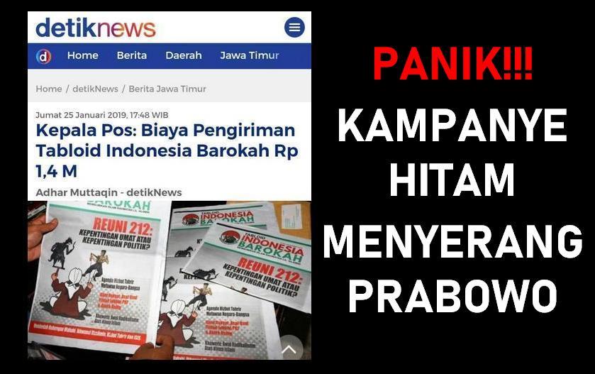 Terungkap Kepala Pos Biaya Pengiriman Tabloid Indonesia