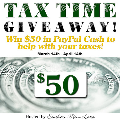 Enter the Tax Time $50 Paypal Giveaway. Ends 4/14